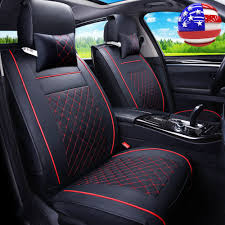 awesome us car suv truck seat cover cushion pu leather for front bucket seats 2018 2019