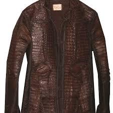 lost art mens crocodile skin jacket in burdy color