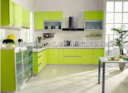 Can be customized apple green whole kitchen cabinet