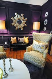 Purple And Black Living Room Rooms Viewer Hgtv