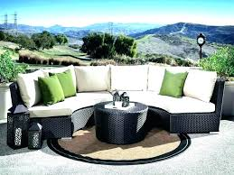 sectional cushion covers round outdoor couch round outdoor couch curved sofas inspiring patio sectional furniture wicker