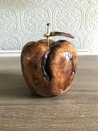 decorative wooden fruit teacher gift hand carved decor table decoration wooden fruit an apple a day decorative wooden fruit