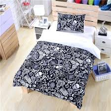 skull duvet cover black and white bedding paisley flag bedding skull bedding new hot duvet cover set twin full queen in bedding sets from home garden on