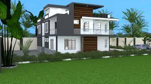 flat roof 4 bedroom house plan id