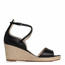 l k bennett black leather nellie wedge sandals
