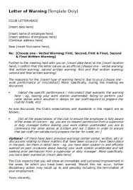 30 sle misconduct warning letter