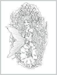 Realistic Mermaid Coloring Pages Free Adult Printable Mermaid