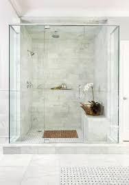 white marble shower tiles