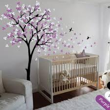 modern baby nursery tree wall decals