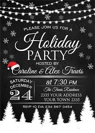 White Christmas Invitations Christmas Party Invitation Holiday Party Invitation Christmas