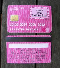 Credit Card Party Invitations Mall Scavenger Hunt Invitations Maddison Spa Party Birthday Mall