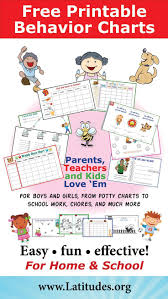 Printable Behavior Charts For Parents Free Printable Behavior Charts For Home School Free