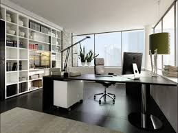 modern home office. Modern Home Office Ideas With Wide Computer Desk And Cozy Swivel Chair Near  High White Shelves Modern Home Office D