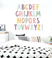 stick on wall art letters