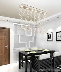 contemporary crystal rectangle chandelier cognac erfly crystal ceiling light fixture flush mount for dining room luminaire suspension spiral chandelier