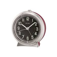 red battery operated beep alarm clock with light qhe133r