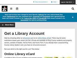Ecards are available to king county residents and property owners, outside of seattle, yarrow point, and hunts point. King County Library System Login Official Login Page