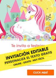 Aplicaciones Para Hacer Invitaciones Gratis 35 Invitaciones De Unicornios Gratis Para Editar