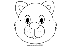 Maschere Da Colorare E Ritagliare Mamma E Bambini Con Sagome Animali