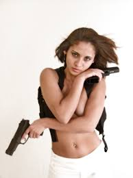Naked girl with glock