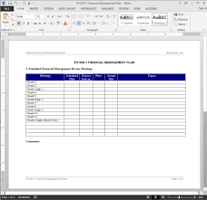 finance report templates financial management review report template