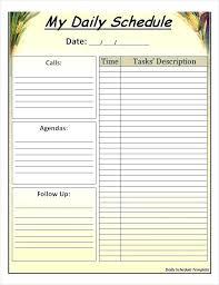 Class Agendas Daily Class Schedule Template Word Printable Stingerworld Co