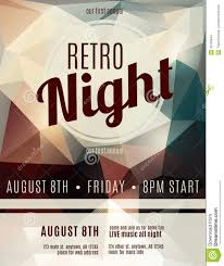 Club Flyers Address Retro Style Night Club Flyer Template Stock Vector