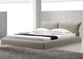 yeolani home modern contemporary beige leather platform bed fade