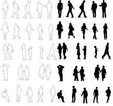 architecture people. Architecture People Silhouettes