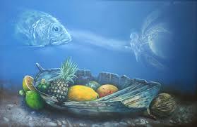 nelson madero artwork offering underwater original painting oil surrealism art
