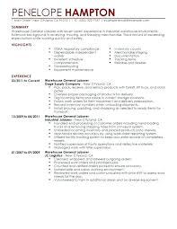 Manual Labor Resume Wikirian Com