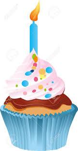 Primer Pastel De Cumpleaños Aislado En Blanco Ilustraciones