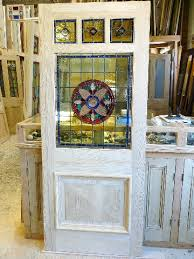 three over one panel stained glass