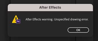 This video is split into 2 parts. Solved After Effects 2019 Error Unspecified Drawing Er Page 2 Adobe Support Community 11232741