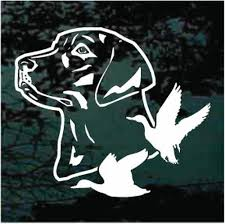 Duck Hunting Dog Silhouette Car Window Decals | Decal Junky