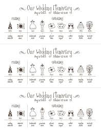 Wedding Schedule Printable Wedding Timeline Schedule Itinerary By Pompdesigns