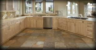Stone Kitchen Floor Tiles Traditional Minimalist Kitchen Design With Wooden Kitchen