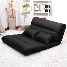 lounge sofa bed double size floor recliner folding chaise chair adjule