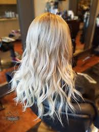 Hair Coloring Icy Blonde Highlights