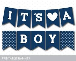 Welcome Home Baby Boy Banner Navy Blue Printable Baby Shower Banner Pb 289 Maggie