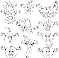 Fruit Coloring Pages To Print Free Ble Fruit Coloring Pages For Of