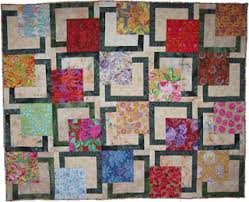 la bella luna: BQ Quilt Pattern & BQ using great big florals in the 18 inch blocks by Kay Smith Adamdwight.com