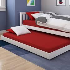 bedroom kids trundle beds design with brown ceramic floor and