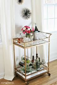 DIY Faux Marble Bar Cart Makeover