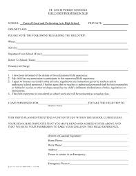 Permission Slip For Field Trips Field Trip Permission Slip Form Template Medical Release