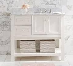bathroom console vanity. Classic Asymmetric Single Sink Console - White Bathroom Vanity U