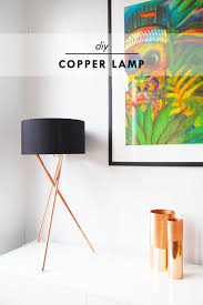 diy modern lighting. copper table lamp by little house on the corner diy modern lighting i