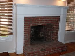 Mantel On Brick Fireplace Fireplace Appealing Fireplace Ideas How To Build A Fireplace