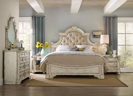 tufted bedroom furniture. 81\u0026quot; Distressed Button Tufted Bed In Antique White Bedroom Furniture