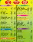 Wah ji wah menu card
